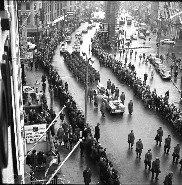 Funeral of former President Sean T O'Kelly 1966