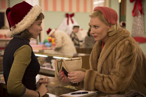 Sublime: Rooney Mara and Cate Blanchett star in the sensual love story, Carol.