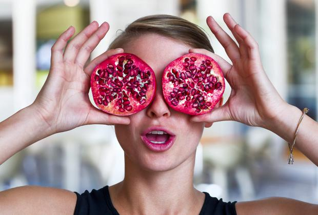 Getting fruit-eye: don't forget that November is Pomegranate Month.