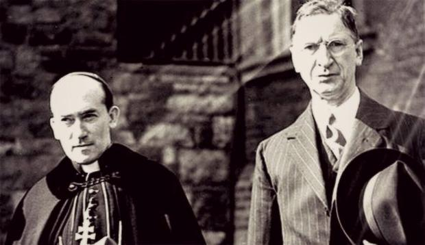 Church and State: Éamon de Valera (right) consulted with Archbishop John McQuaid while preparing the Constitution in 1937, five years after the Eucharistic Congress in Dublin, a showcase of Irish Catholicism.