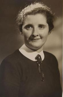 Bridget Crosbie in her late 20s. The 84-year-old was found dead in her home last weekend