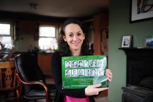 Artistic: Dr Laura Doherty's calendar commemorating the signatories of the Proclamation of the Irish republic will form part of the 2016 celebrations. Photo: James Flynn
