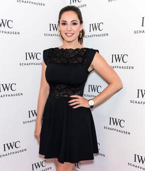 Style statement: Kelly Brook always gets it right, pictured here in a classic little black dress.