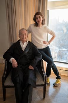 Bill Murray and 'A Very Murray Christmas' director Sofia Coppola.