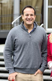 Leo Varadkar sports 'rugby dad-chic'. Photo: El keegan