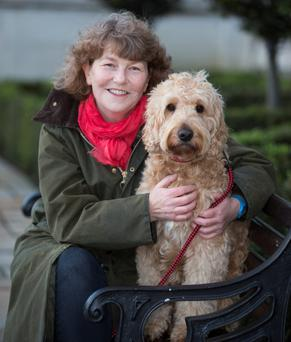 Family's best friend: Deborah Spillane with Cosmo at The Radisson Blu Hotel, St. Helen's, Stillorgan last week. Photo: Colin O'Riordan.