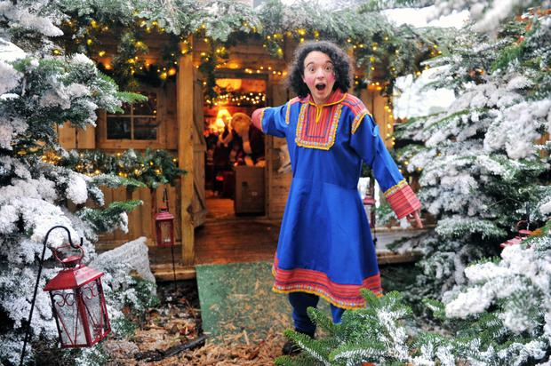Reporter Jane O'Faherty pictured at Santa Claus' grotto at the Fota Christmas Experience, Cork.