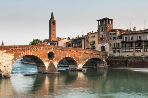 Beautiful Verona: The small 'centro storico' of the city is pleasant and easy to amble through, with many interesting buildings, piazzas and churches to visit.