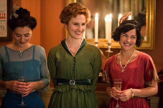 At the theatre: From left, Charlie Murphy as Elizabeth, Ruth Bradley as Frances and Sarah Greene as May in Rebellion