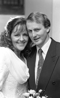 Power couple: Enda Kenny and his bride Fionnuala O'Kelly in 1992