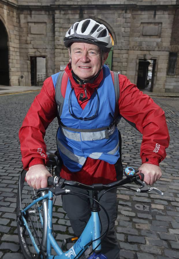 Start-up: Sean Farrell set up a new bike business after he retired from RTE. Photo: Damien Eagers