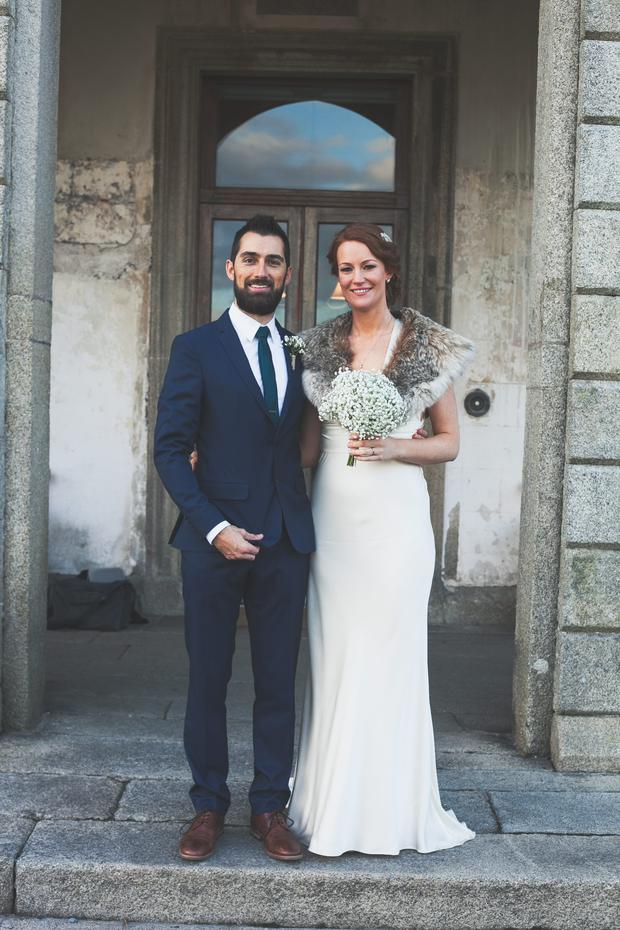 Rob and Fiona held a humanist wedding at The Granary in Borris House, Co Carlow.