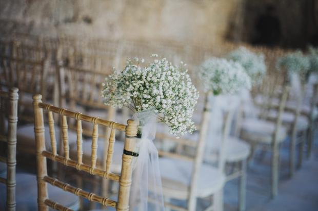 The exposed stone ceremony rooms were ideal.