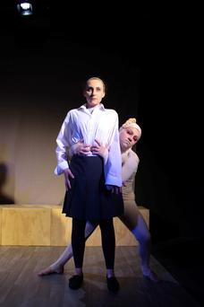 Recovery: Eva O'Connor (right) plays Caol in 'Overshadowed', a play about anorexia which she wrote and stars in after recovering from the illness herself.