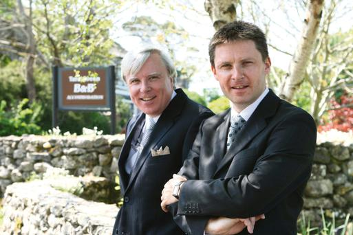 Watchful: John (right) and Francis Brennan say hotels have turned a corner but prices are a big concern