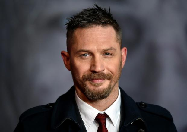Actor Tom Hardy grew a beard for The Revenant.