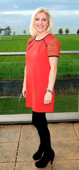 Three square meals: Aoife Hearne says she eats scrambled eggs for breakfast most days, and always leaves room for a bit of chocolate