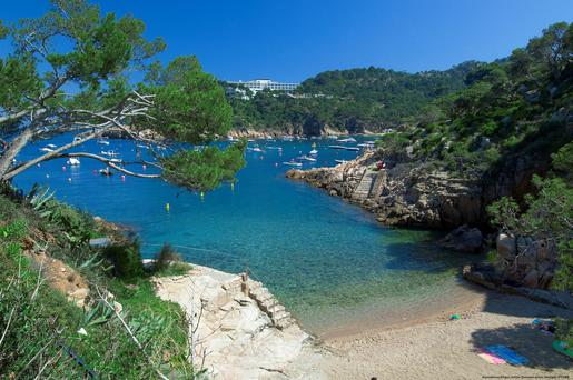 Great outdoors: Spain's Costa Brava, which runs from just north of Barcelona to the French border, boasts plenty of rocky outcrops and quiet coves - hiking is a good way to explore it