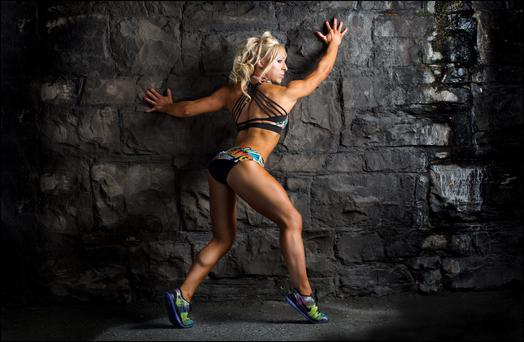 Bodybuilder Claire McGrath. Photo: David Conachy