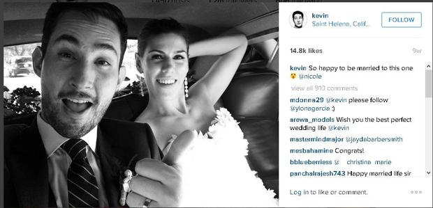 Instagram co-founder Kevin Systrom posted a photo of his own wedding day last November.