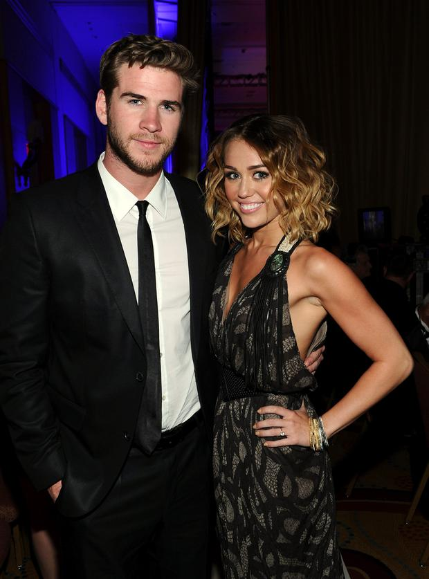 Miley Cyrus and Liam Hemsworth in 2012