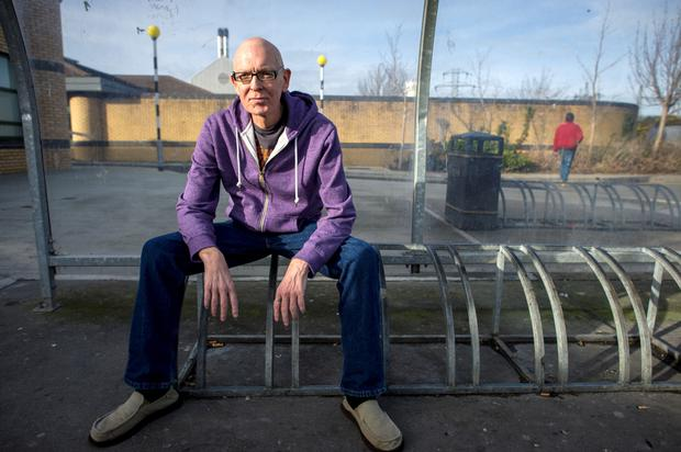 Shattered: John Keogh pictured at Tallaght Hospital where he underwent where he underwent chemotherapy for stage 4 non-Hodgkin's lymphoma. Photo: Doug O'Connor.