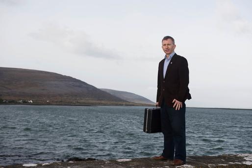 Life on the edge: Dr Liam Glynn of Ballyvaughan, Co Clare. Photo: Andrew Downes.