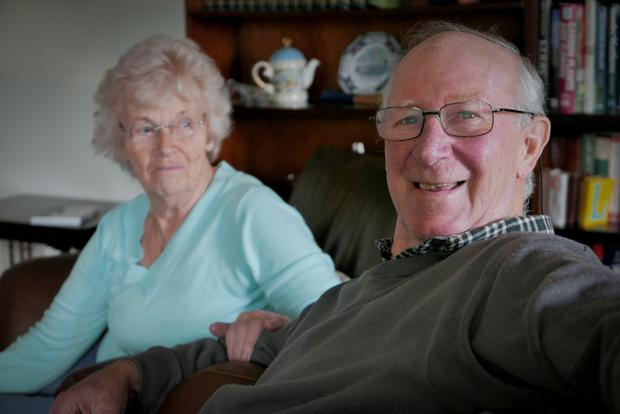 Jack Charlton with his wife Pat.