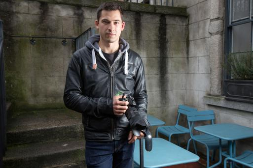 Photographer Peter Varga who is working on a project called Humans of Dublin. Photo: Tony Gavin