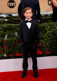 Ahead of his time: Nine-year-old 'Room' actor Jacob Tremblay.