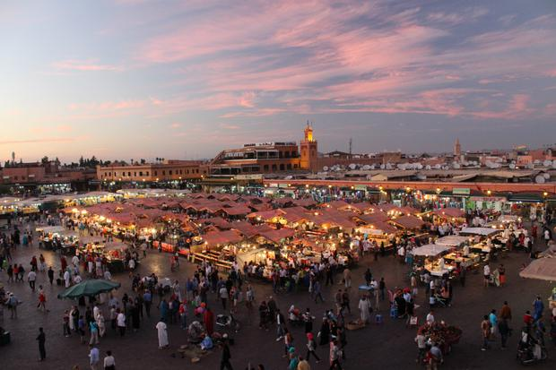 Arabian night: Marrakech's famous city square, the Djemaa el Fna, is full of exotic sights, sounds and smells.