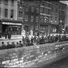 Sentenced: Prisoners of the 1916 Rising being marched to barracks by British soldiers.