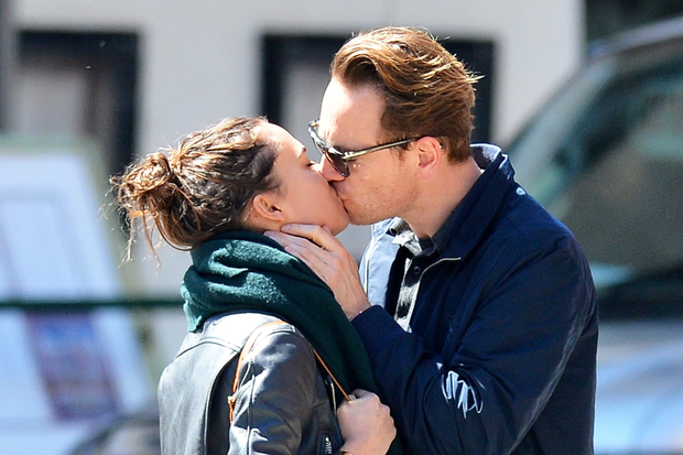 Alicia Vikander and Michael Fassbender share an intimate moment