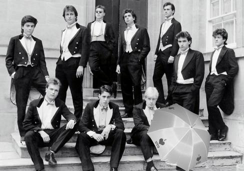 In the club: Boris (front right) and Cameron (back row, second from left) in their Bullingdon days.