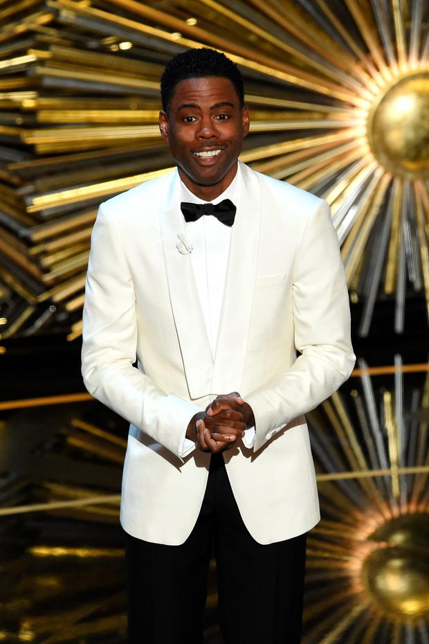 Searing opening monologue: Host Chris Rock speaks onstage.