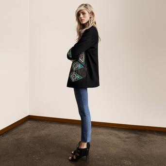Embroidered jacket, €59.99, available at H&M.