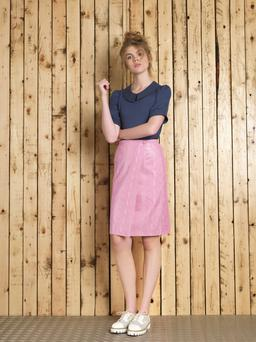 Emma Manley's Spring Summer 2016 collection called 'Box Clever', Top €175, skirt €325, manley.ie