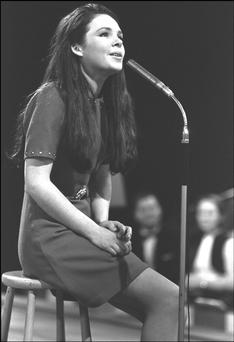 Winning performance: Dana in the sixth National Song Contest on March 21, 1970.