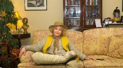 Life lived: Actress Sarah Miles relaxing in Castlewood House in Dingle this week.