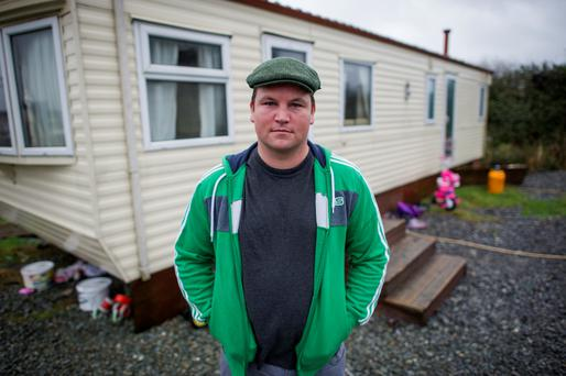 Fighting for his rights: Actor John Connors, pictured at home in Coolock. Photo: Douglas O'Connor.