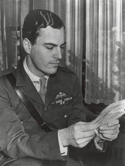 GIFTED: Travel writer Patrick Leigh Fermor as a Major in the parachute regiment. (Photo by Evening Standard/Getty Images)