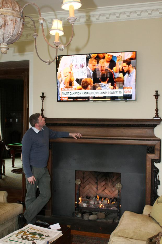 Graham Clifford watches Trump's presidential campaign at Doonbeg.