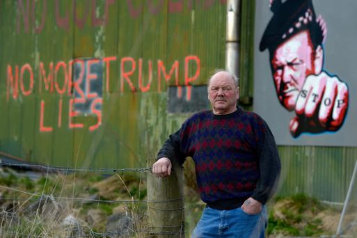 Scottish spat: Farmer John Forbes, star of the You've Been Trumped documentary about the billionaire's fights with locals.