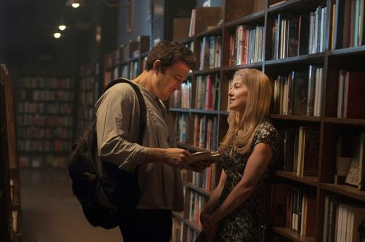 Ben Affleck as Nick Dunne and Rosamund Pike as Amy Dunne, in Gone Girl, a great book club favourite