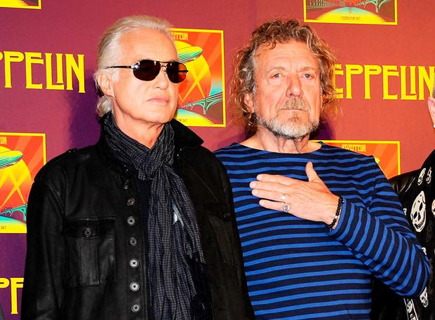 Whole 'lotta bother : Jimmy Page and Robert Plant of Led Zeppelin face a lawsuit