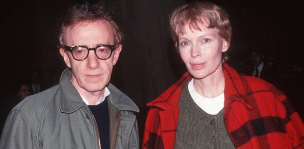Mia Farrow and Woody Allen spent time living apart.