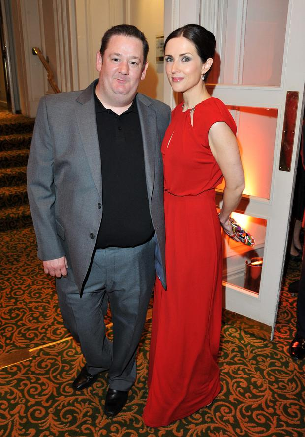 Johnny Vegas and Maia Dunphy lived apart.