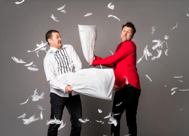 Stand up guys: PJ Gallagher and Jason Byrne. Photo: Mark Nixon