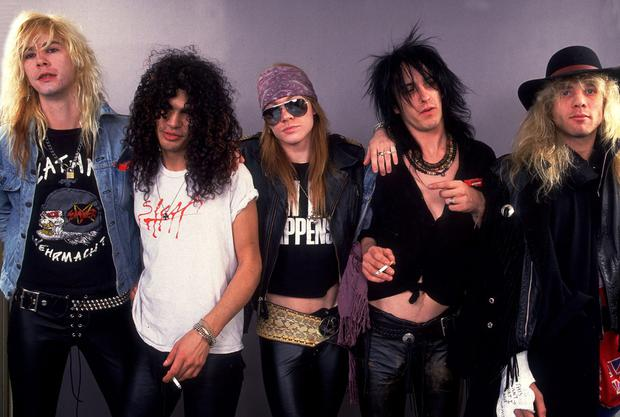 Patience: Guns N' Roses in their original form: Duff, Slash, Axl, Izzy and Steven Adler.