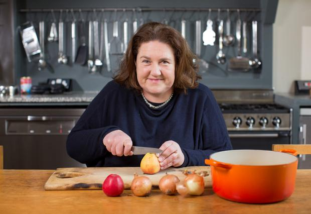 Recipe for success: Katy McGuinness prepares her homemade sauces Photo: Fergal Phillips.